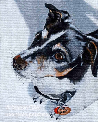 Mini Fox Terrier Painting