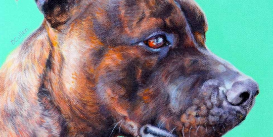 Staffordshire Bull Terrier Painting