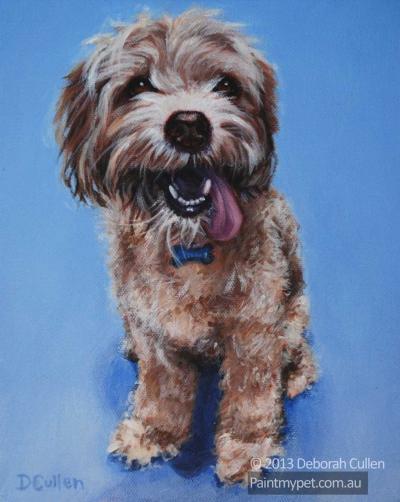 Poodle Portrait - paintmypet