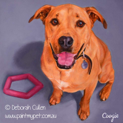 Staffy - Labrador - Ridgeback painting