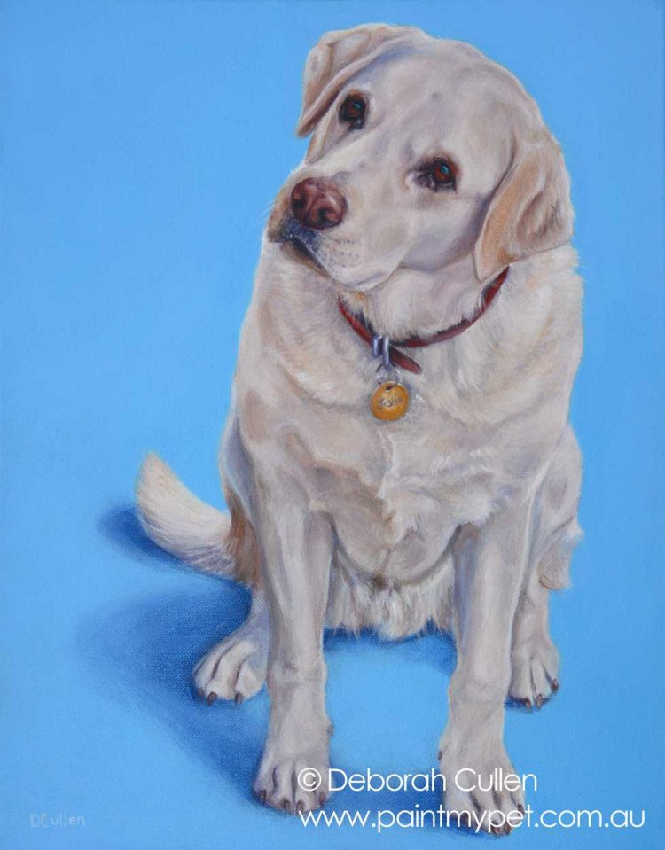 Golden Labrador painting