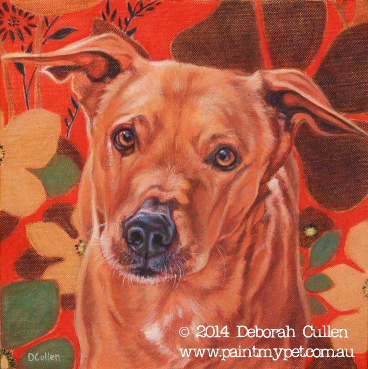 Dingo X pet portrait
