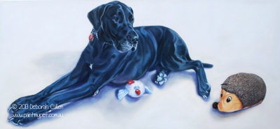Dog Portrait of a Great Dane - Deborah Cullen