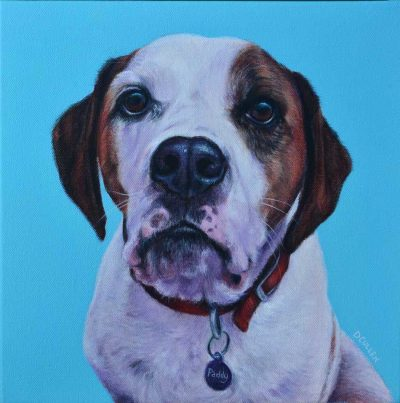 Beagle X dog portrait painting