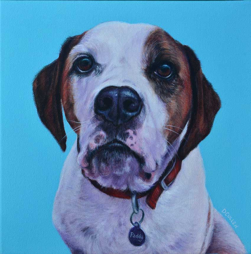 Beagle X dog portrait painting