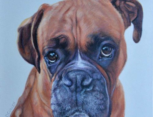 ARCHIE – BOXER DOG PORTRAIT PAINTING
