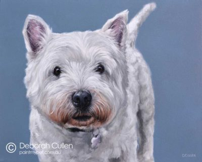 West Highland Terrier Painting