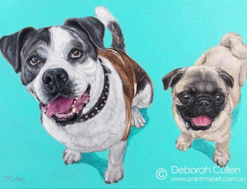 Mack and Nuggets – Bulldog and Pug Pet Painting