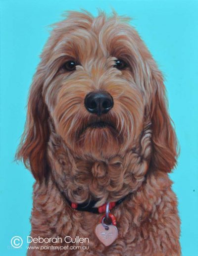 Pet Painting of Susie the Groodle