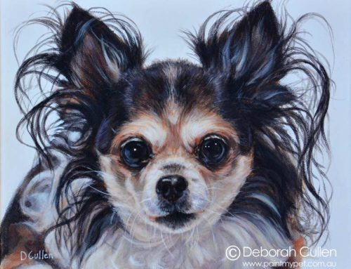 Ruby – Chihuahua Dog Portrait Painting