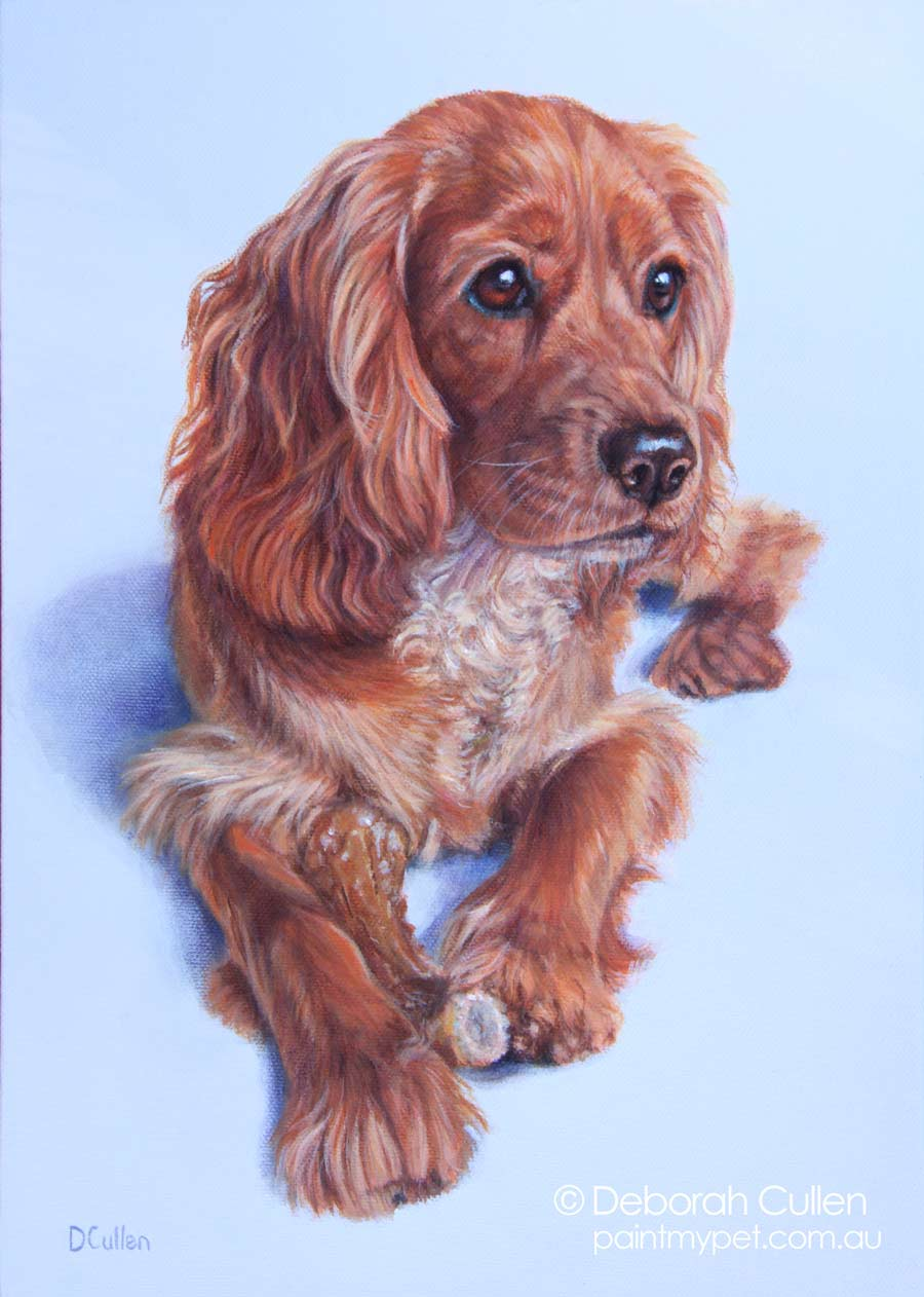 Pet Portrait Painting of a dog